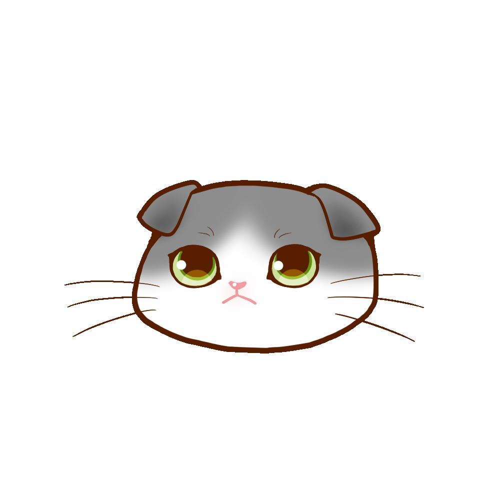 猫イラストまんじゅうスコブルー&ホワイト