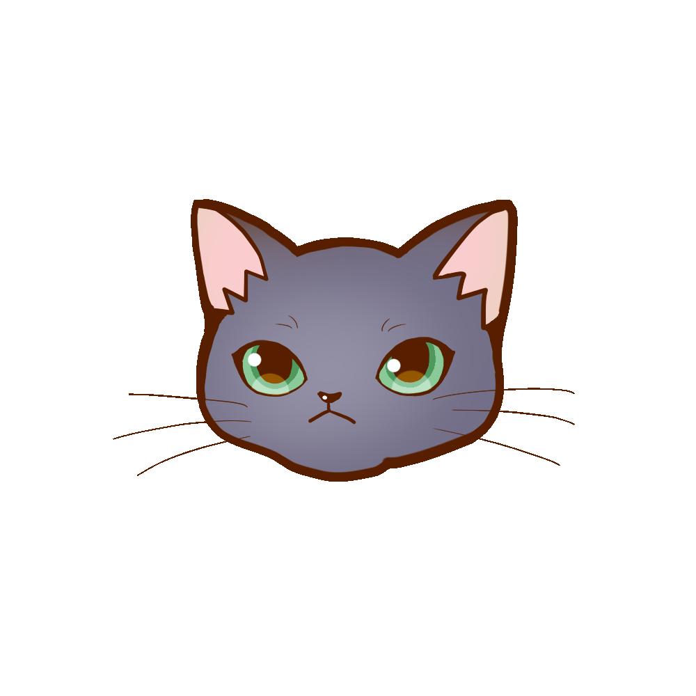 猫イラストまんじゅうロシアンブルー