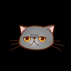 猫イラストまんじゅうエキゾチックブルー