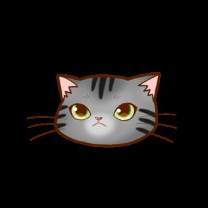 猫イラストまんじゅう顔Aサバトラ