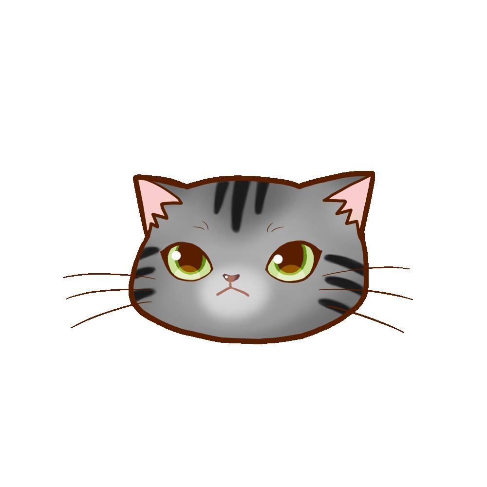 猫イラストまんじゅうサバトラ