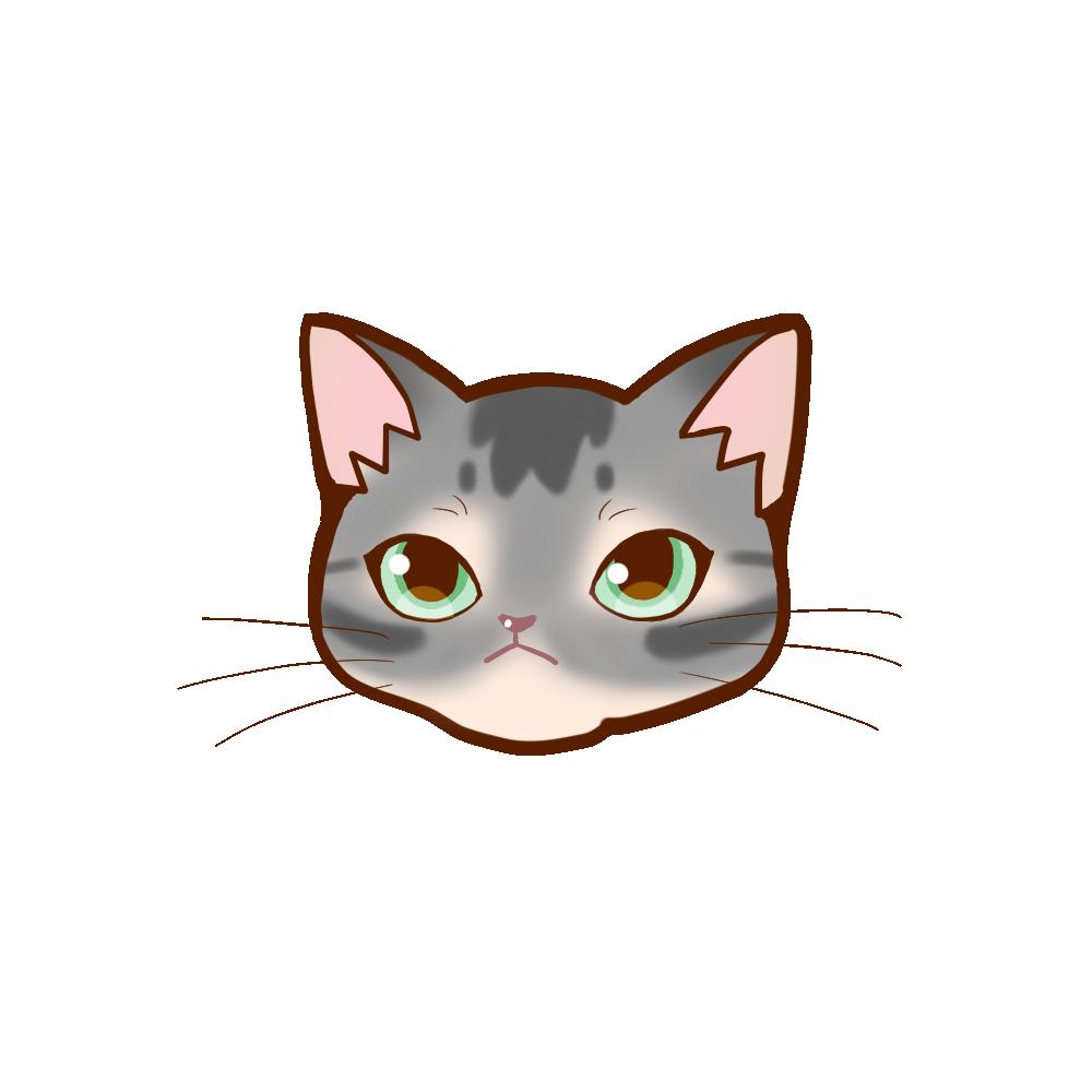猫イラストまんじゅうアビブルー
