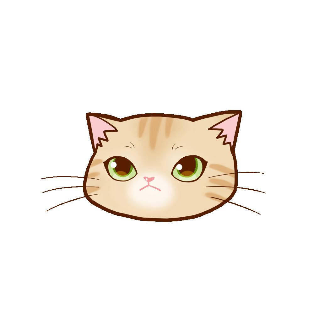 猫イラストまんじゅうクリーム
