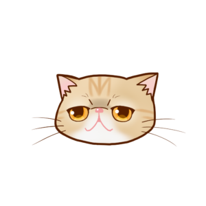猫イラストまんじゅうエキゾチッククリームタビー