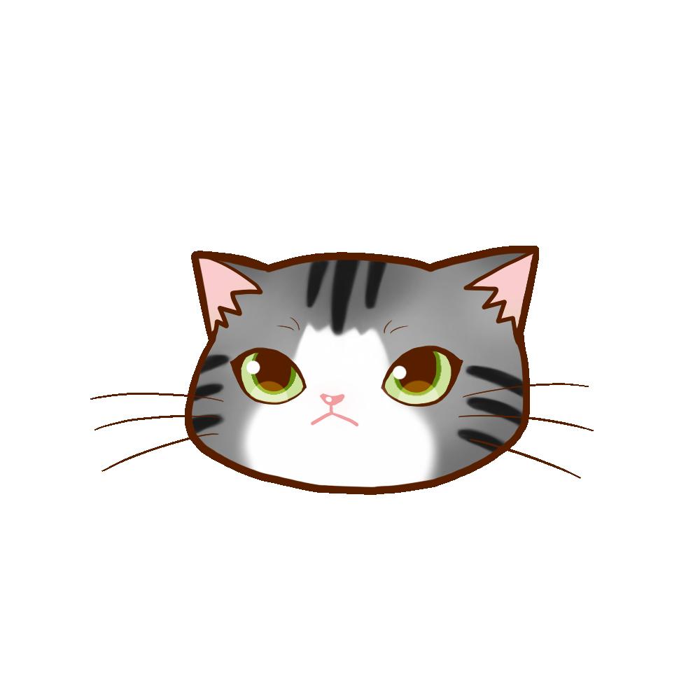 猫イラストまんじゅうサバ白