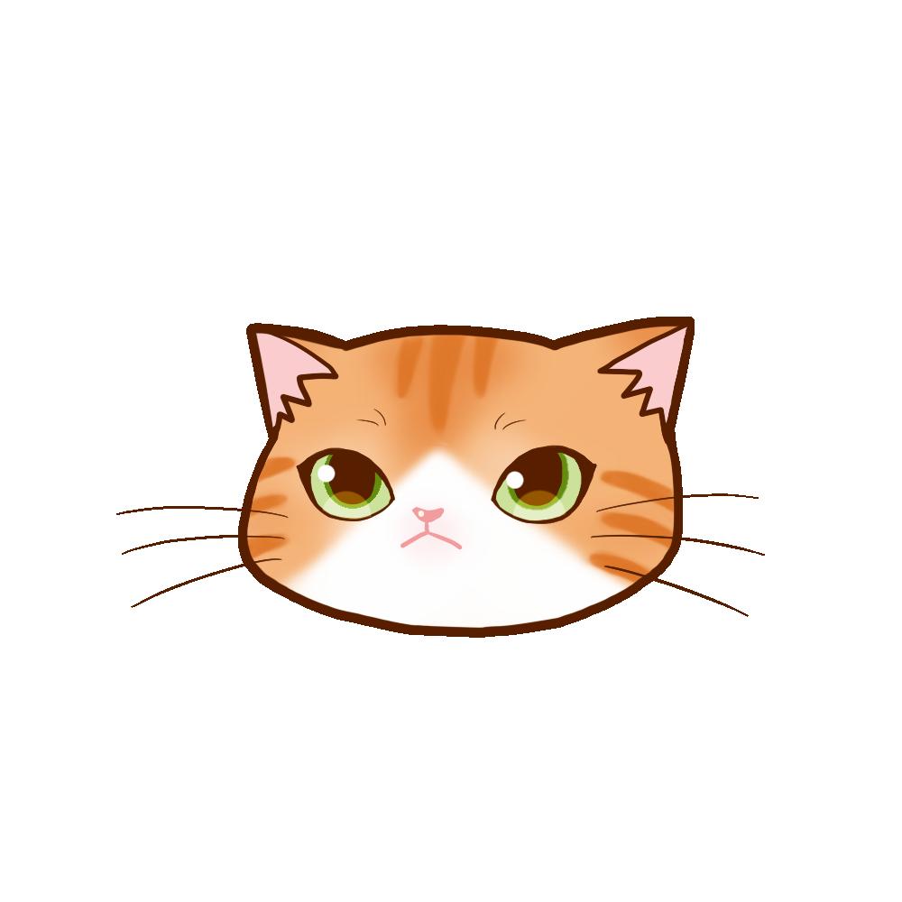 猫イラストまんじゅう茶白