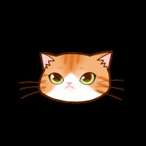 猫イラストまんじゅう顔A茶白