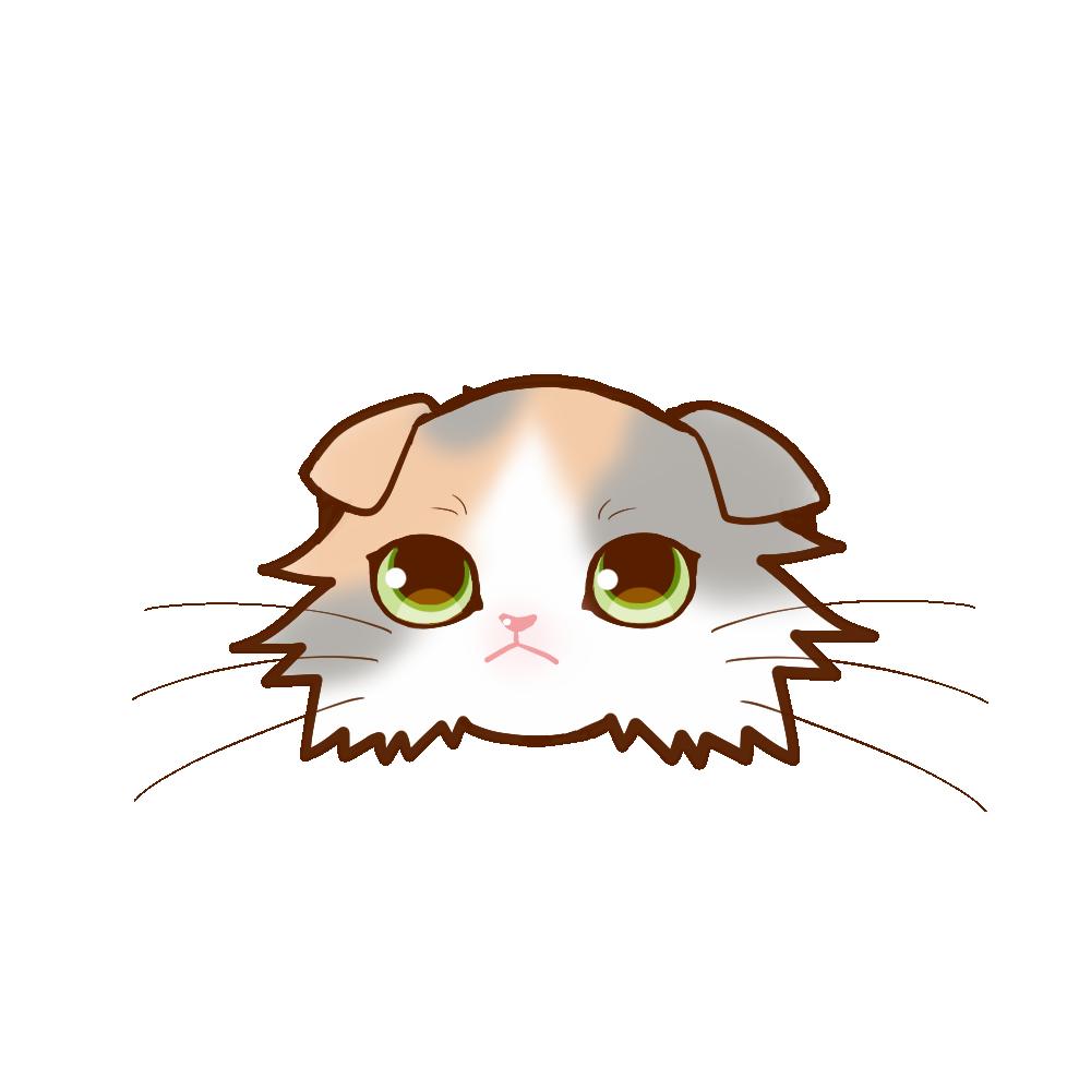 猫イラストまんじゅうスコロングダイリュートキャリコ