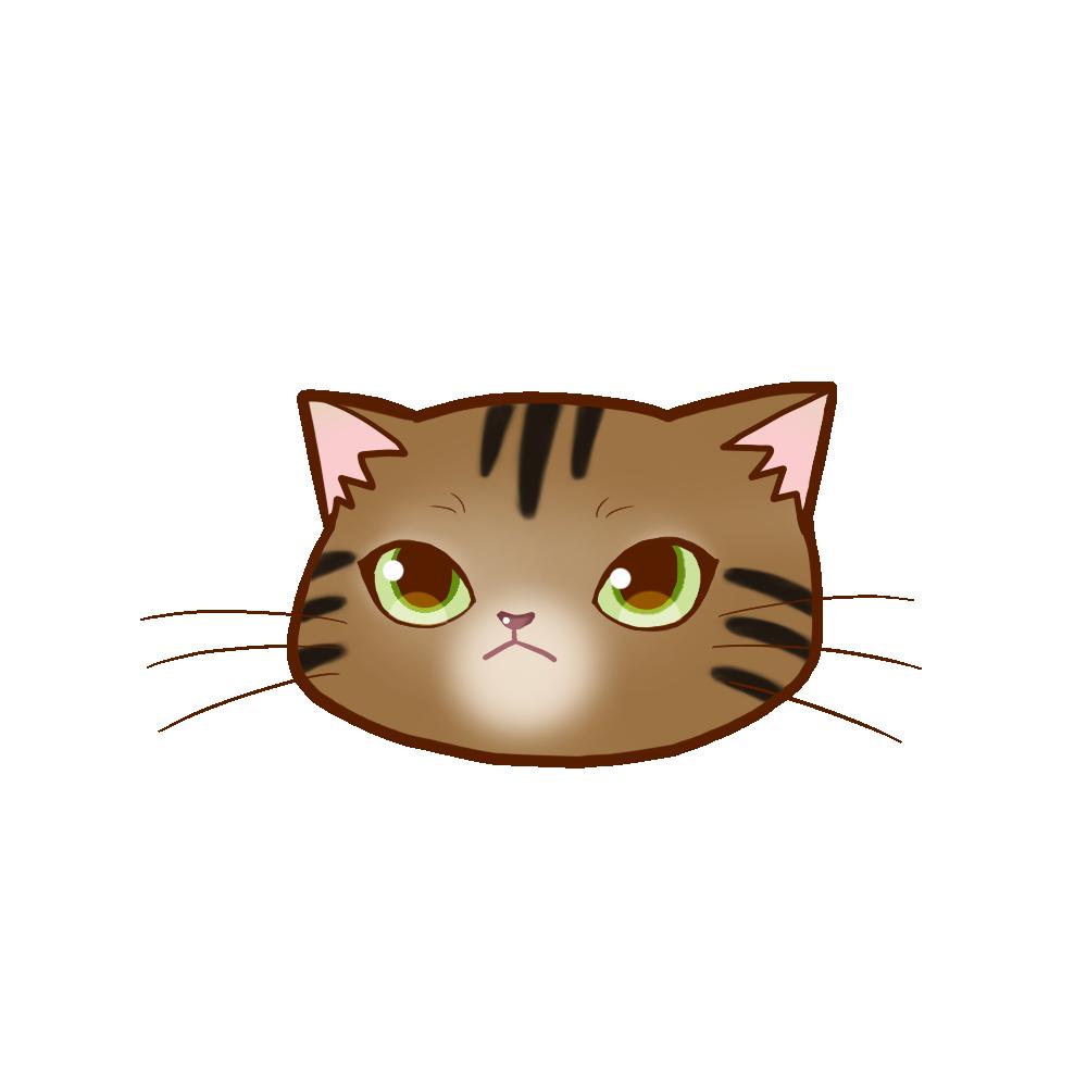 猫イラストまんじゅうアメショブラウンタビー