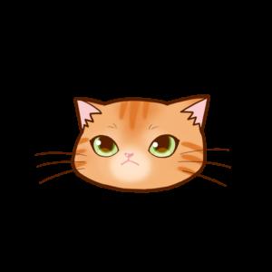 猫イラストまんじゅう顔A茶トラ-manjyu cat face brown tiger-