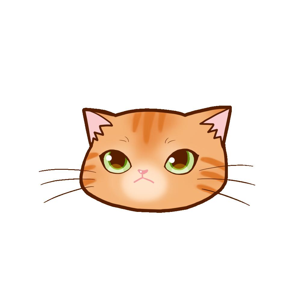 猫イラストまんじゅう茶トラ