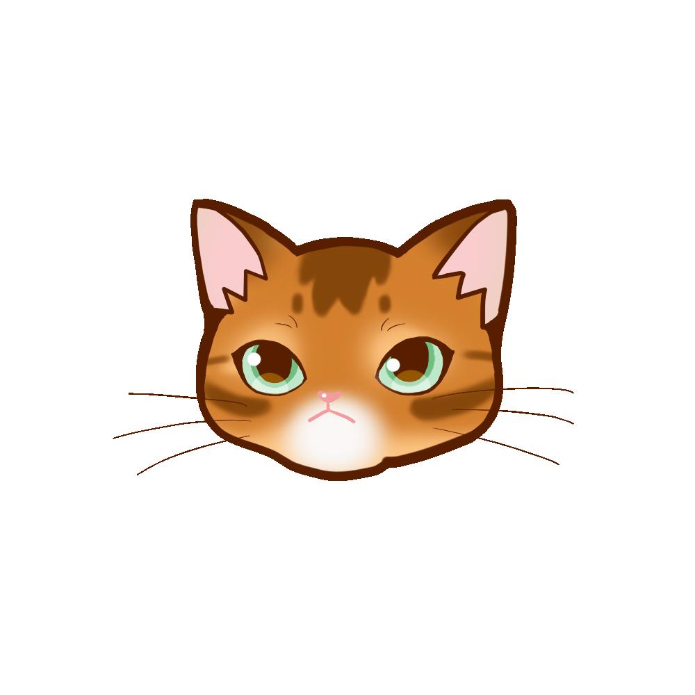 猫イラストまんじゅうアビレッド