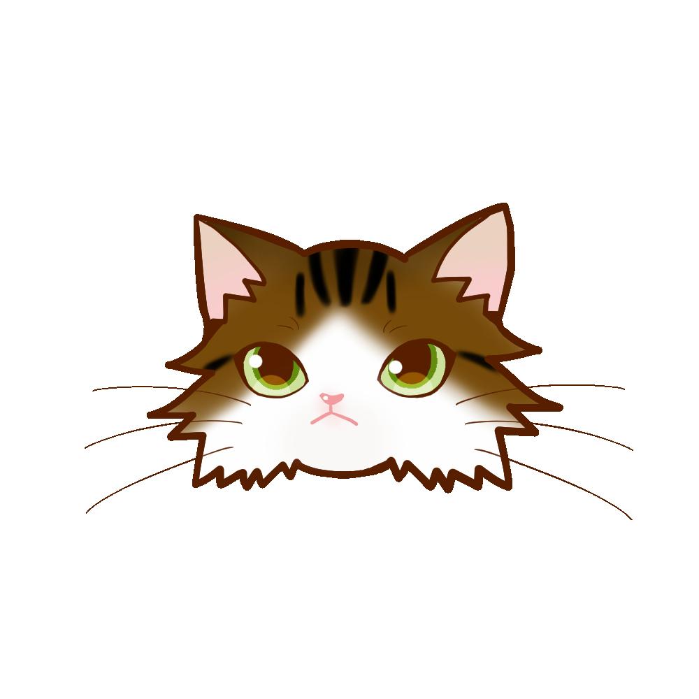 猫イラストまんじゅうノルブラウンタビー&ホワイト