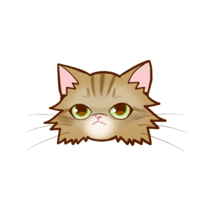 猫イラストまんじゅうペルシャチンチラゴールデン