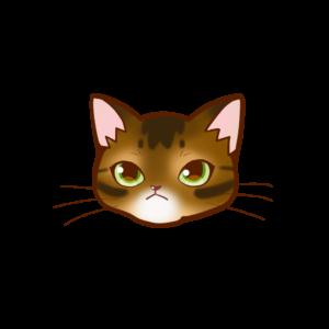 猫イラストまんじゅう顔Aアビルディ