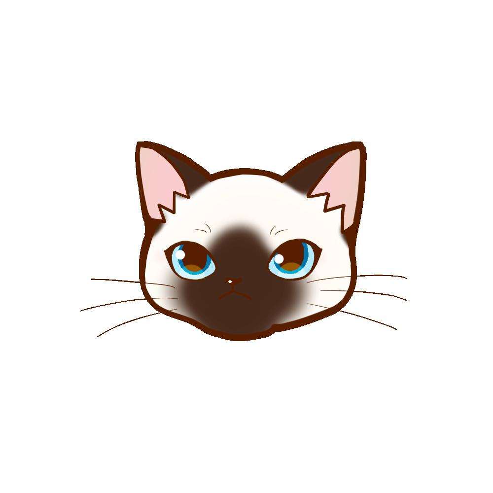 猫イラストまんじゅうシャム
