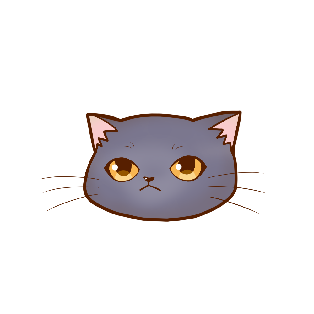 猫イラストまんじゅうシャルトリュー