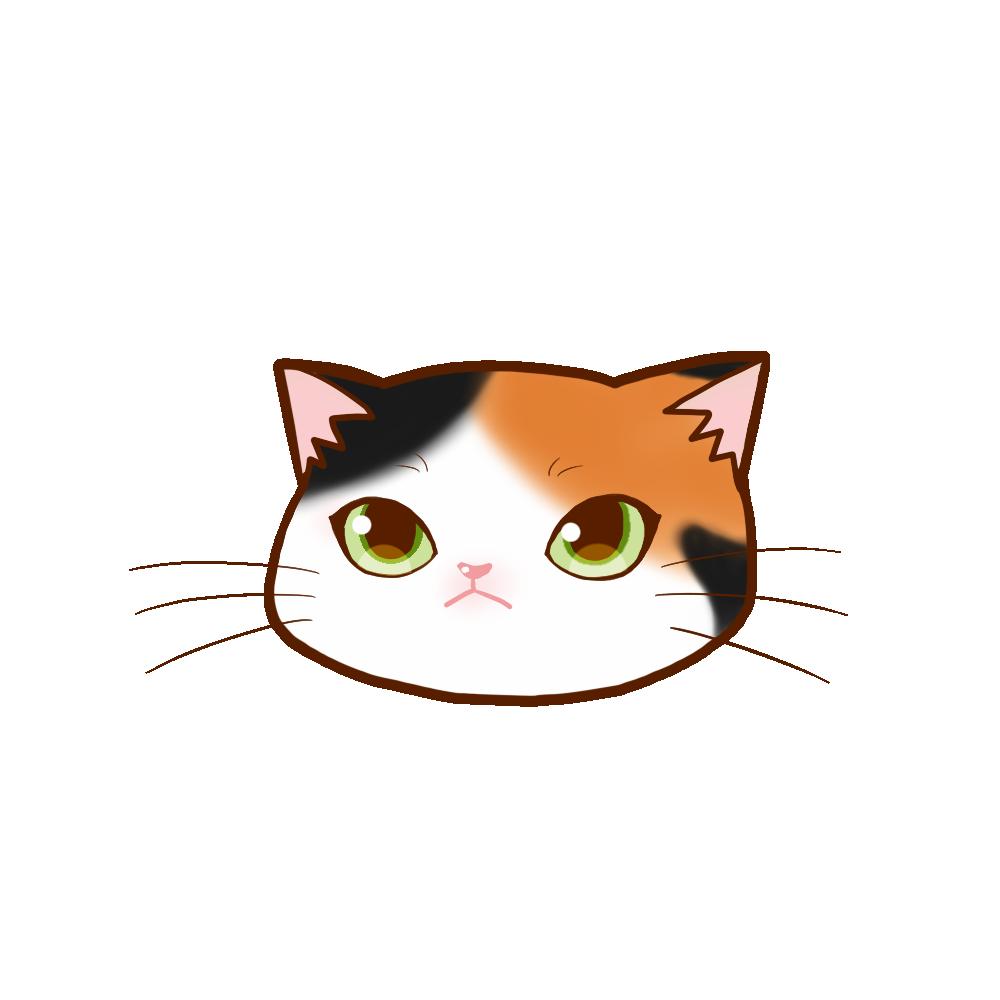猫イラストまんじゅう三毛