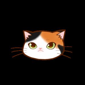猫イラストまんじゅう顔A三毛-manjyu cat face calico-