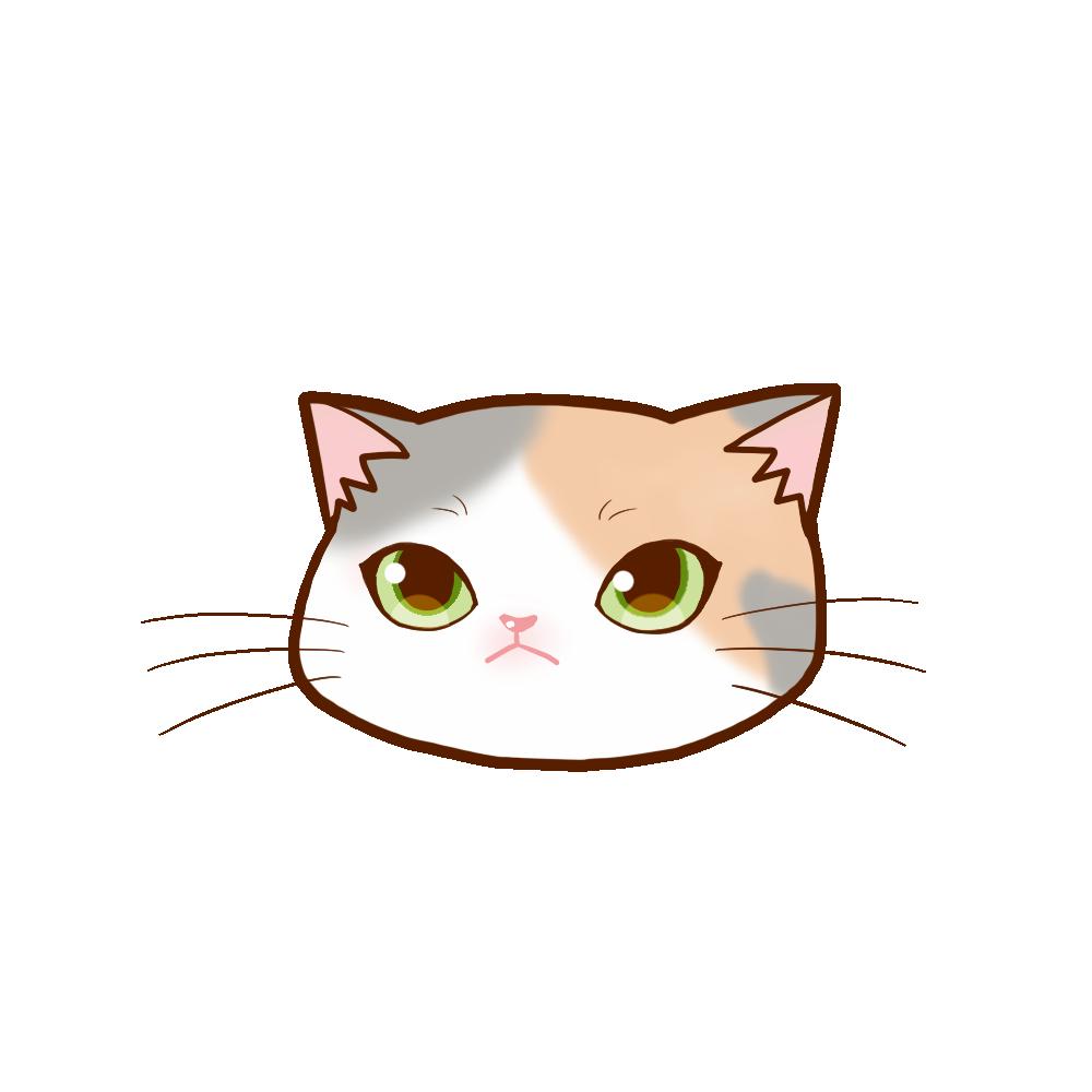 猫イラストまんじゅう三毛ダイリュート