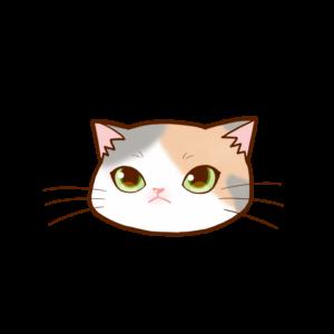 猫イラストまんじゅう顔A三毛ダイリュート