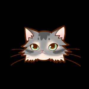 猫イラストまんじゅうソマリブルー