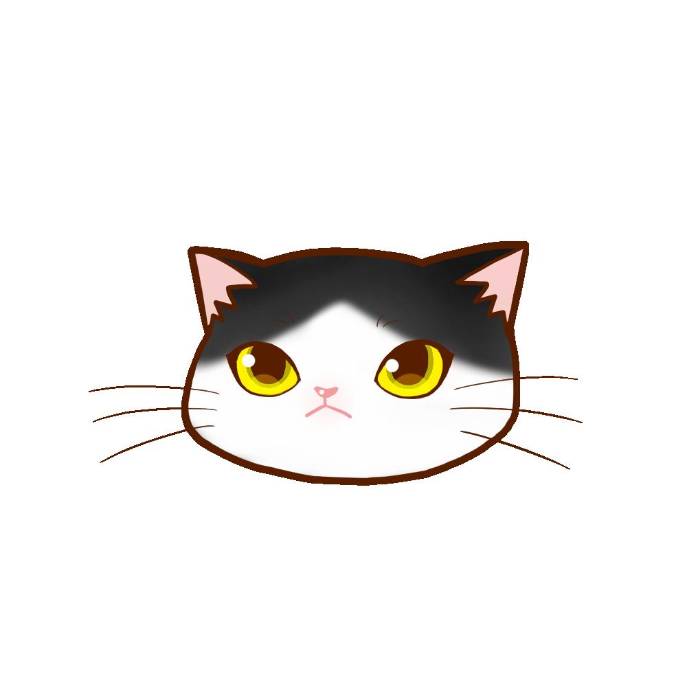猫イラストまんじゅうハチワレ