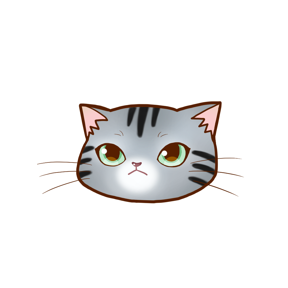 猫イラストまんじゅうアメショシルバータビー