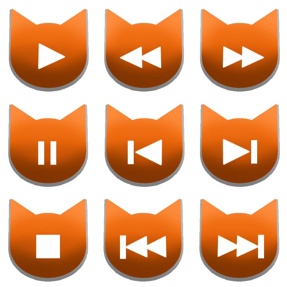 アイコンボタンセット1オレンジ