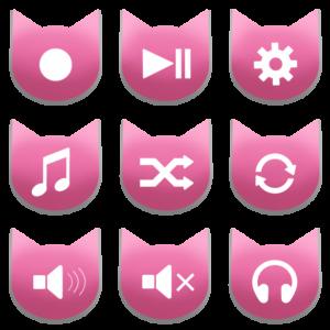 アイコンボタンセット2ピンク