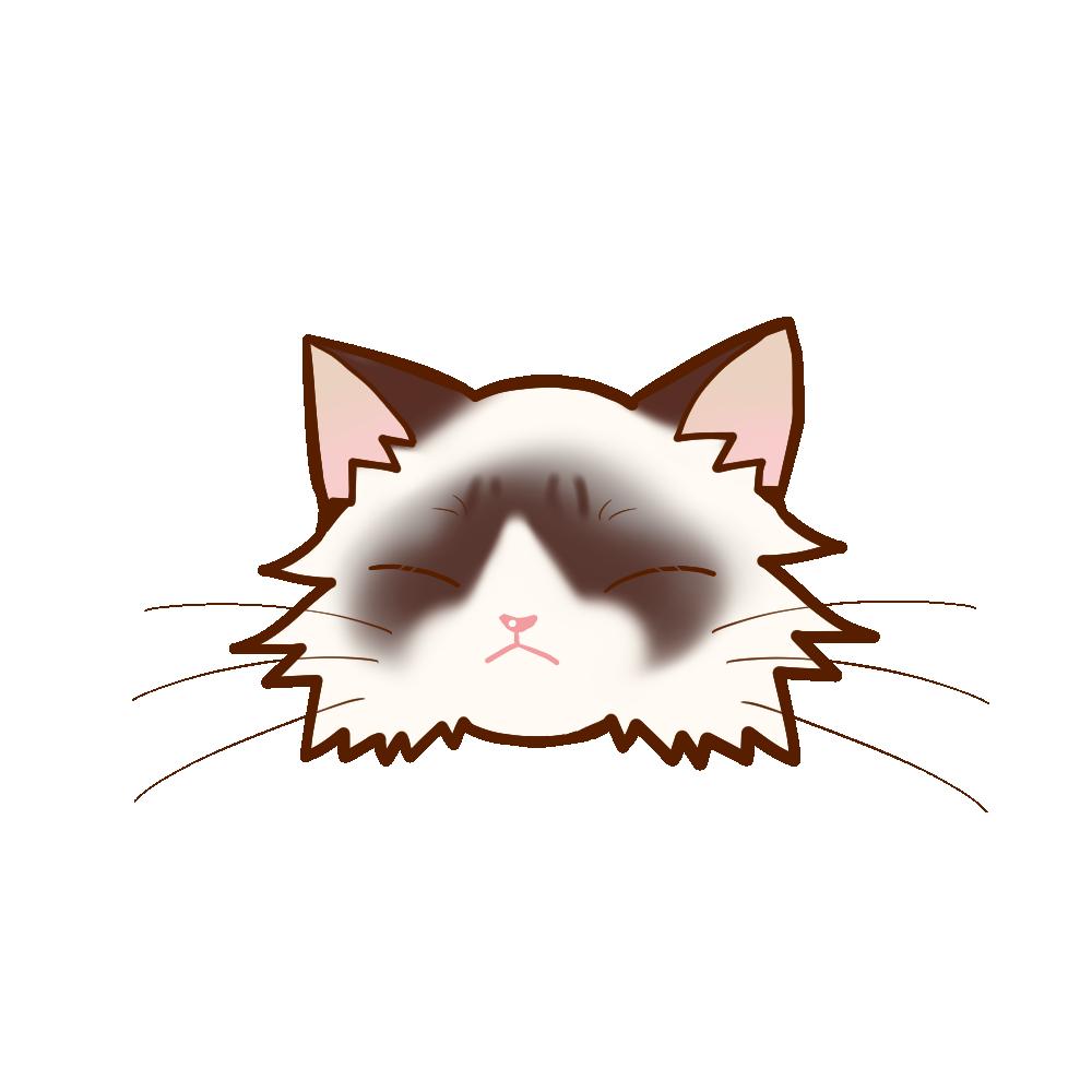 猫イラストまんじゅうラグドールB