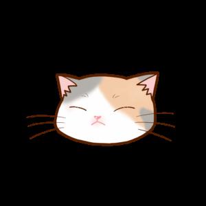 猫イラストまんじゅう三毛ダイリュートB