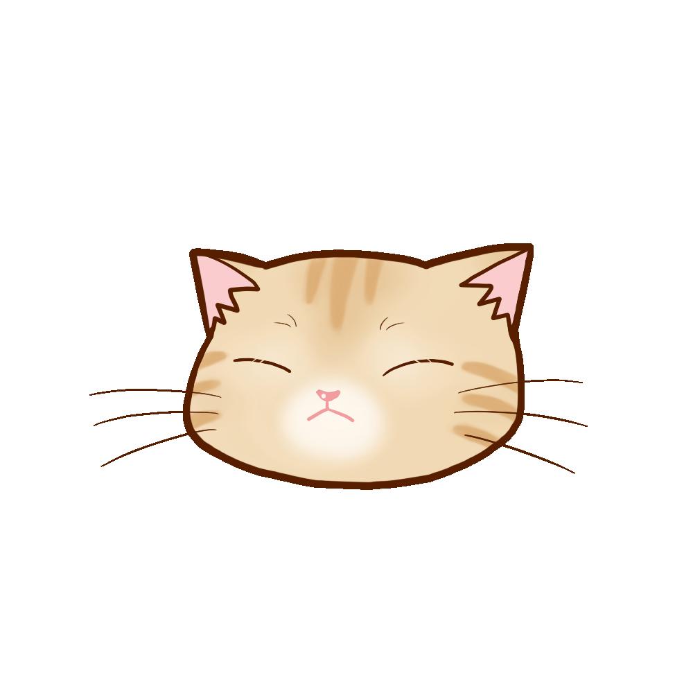 猫イラストまんじゅうクリームB