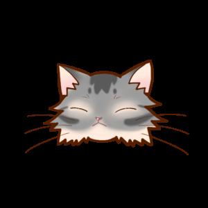 猫イラストまんじゅうソマリブルーB