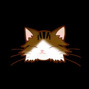 猫イラストまんじゅうノルブラウンタビー&ホワイトB
