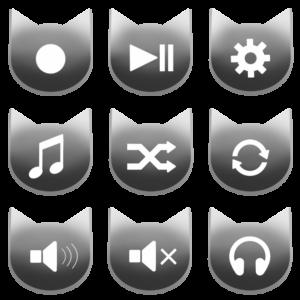 アイコンボタンセット2グレー