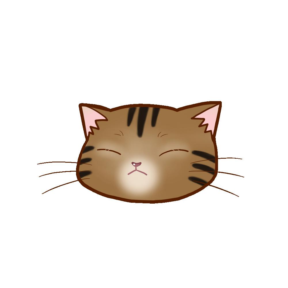 猫イラストまんじゅうアメショブラウンタビーB