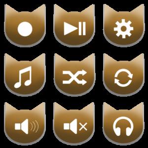 アイコンボタンセット2アンバー