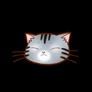 猫イラストまんじゅうアメショシルバータビーB