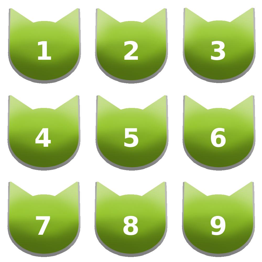 アイコンボタンセット7グリーン