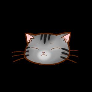 猫イラストサバトラB