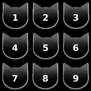 アイコンボタンセット7ブラック