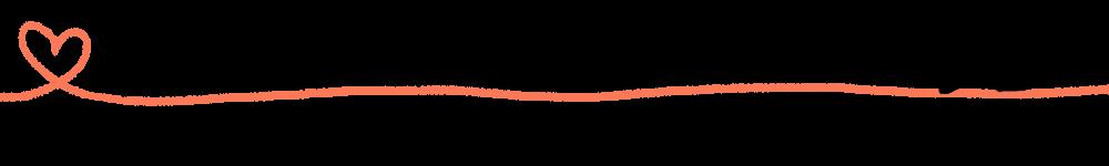 ハートのラフな線とじゃれる猫のラインオレンジ