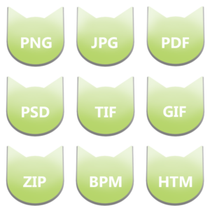 アイコンボタンセット6パステルグリーン