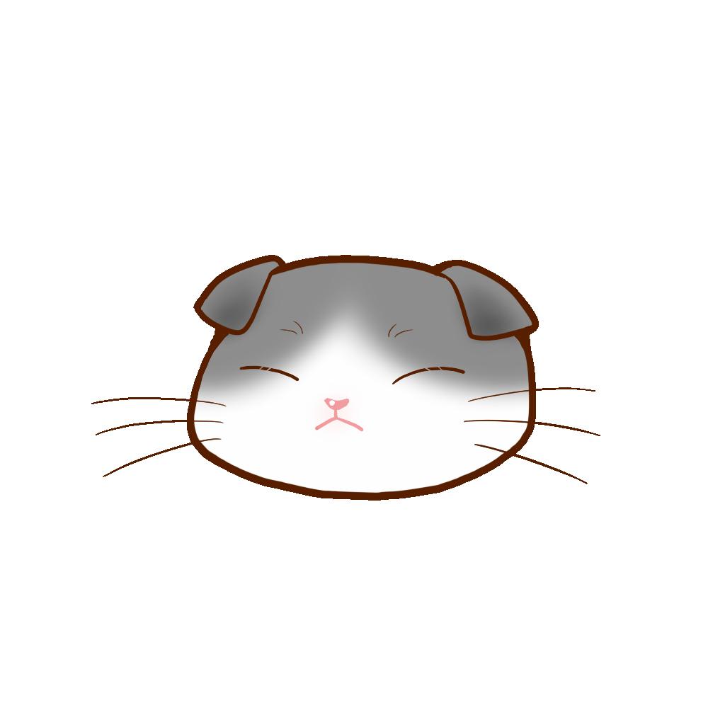 猫イラストまんじゅうスコブルー&ホワイトB