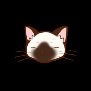 猫イラストまんじゅうシャムB