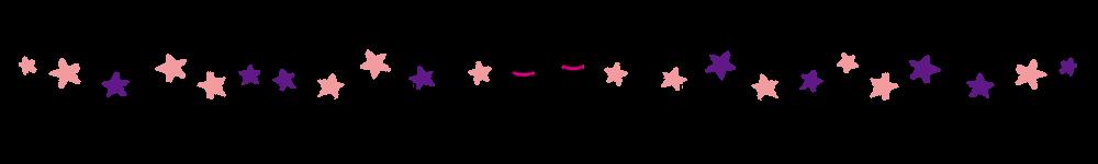 星と2匹の猫のラインピンク×パープル
