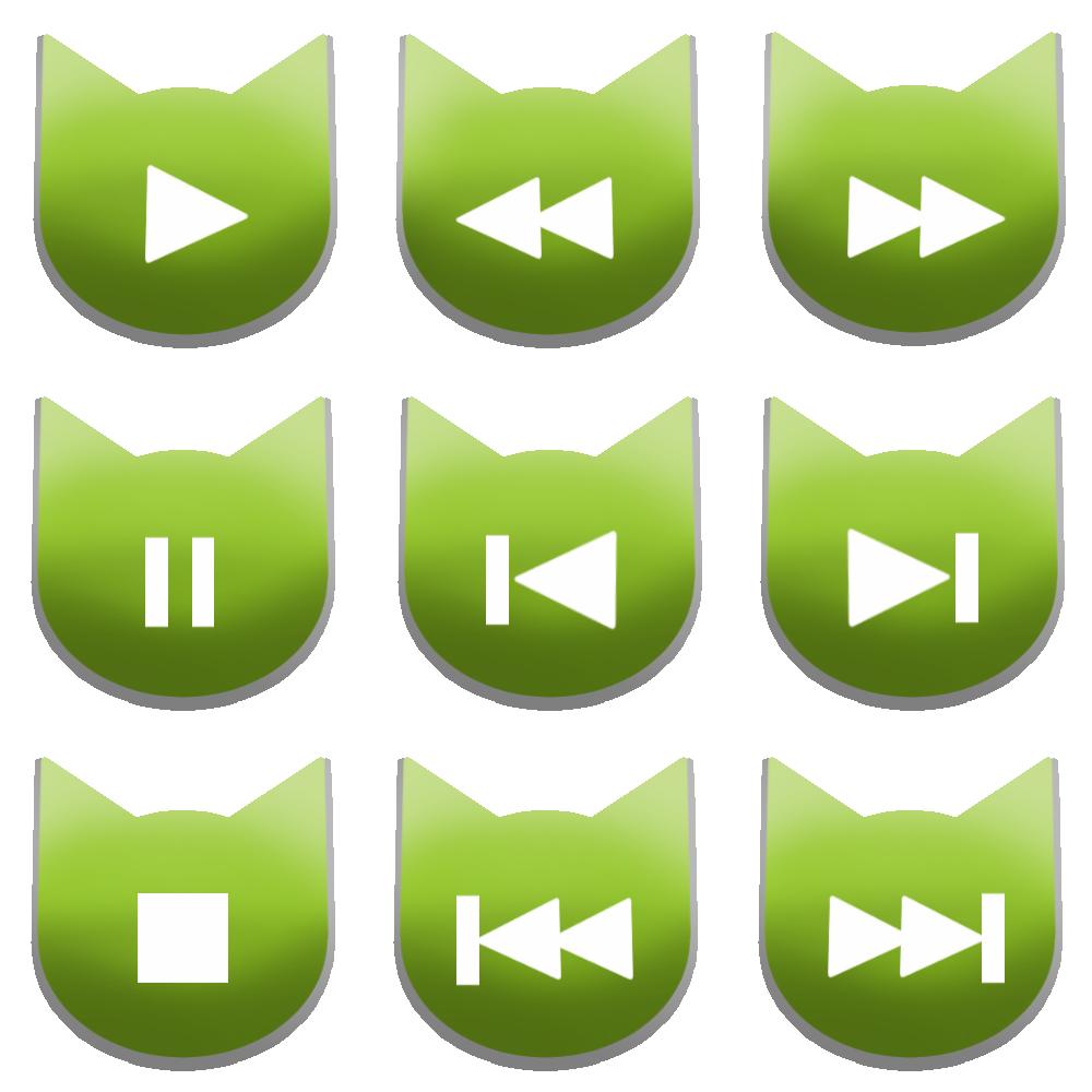 アイコンボタンセット1グリーン