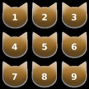 アイコンボタンセット7アンバー