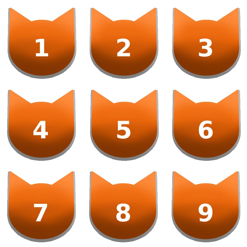 アイコンボタンセット7オレンジ